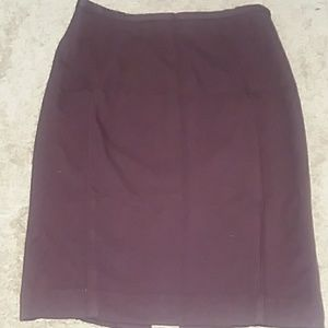 Wine colored pencil skirt